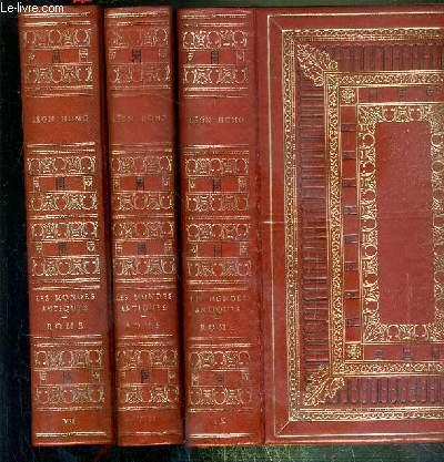 HISTOIRE ROMAINE - 3 VOLUMES EN 3 TOMES / COLLECTION LES MONDES ANTIQUES - TOME 7 + 8 + 9.