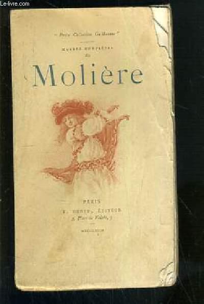 OEUVRES COMPLETES DE MOLIERE - TOME III.  LE MISANTHROPE + L'ECOLE DES MARIS + LES FACHEUX / PETIT COLLECTION GUILLAUME.