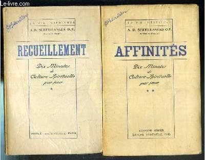 DIX MINUTES DE CULTURE SPIRITUELLE PAR JOUR - 2 VOLUMES EN 2 TOMES - 1 + 2 / COLLECTION LA VIE INTERIEUR.