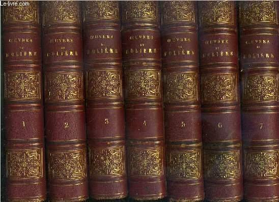 OEUVRES COMPLETES DE MOLIERE - 7 VOLUMES EN 7 TOMES - 1 + 2 + 3 + 4 + 5 + 6 + 7 / 7 photos disponibles.