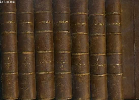 OEUVRES COMPLETES DE ALFRED DE MUSSET - 10 VOLUMES EN 10 TOMES / 1 + 2 + 3 + 4 + 5 + 6 + 7 + 8 + 9 + 10 - T.1+2. POESIES - T.3+4+5. COMEDIES - T.6+7. NOUVELLES ET CONTES - T.8. CONFESSIONS - T.9. MELANGES - T.10. OEUVRES POSTHUMES / 8 photos disponibles.