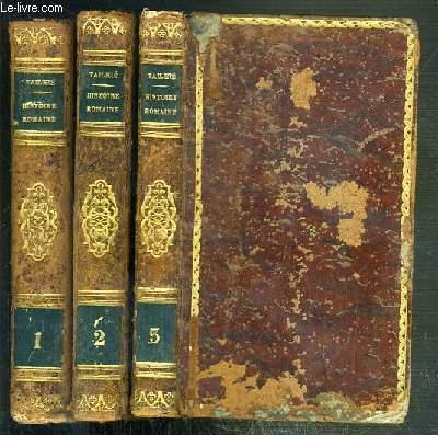 ABREGE DE L'HISTOIRE ROMAINE, DE ROLLIN - 3 VOLUMES EN 3 TOMES - 1 + 2 + 3