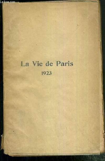 LA VIE DE PARIS 1923