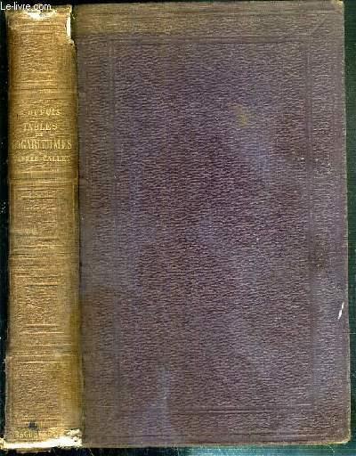 TABLES DE LOGARITHMES A SEPT DECIMALES D'APRES BREMIKER, CALLET, VEGA, ETC - EDITION STEREOTYPE