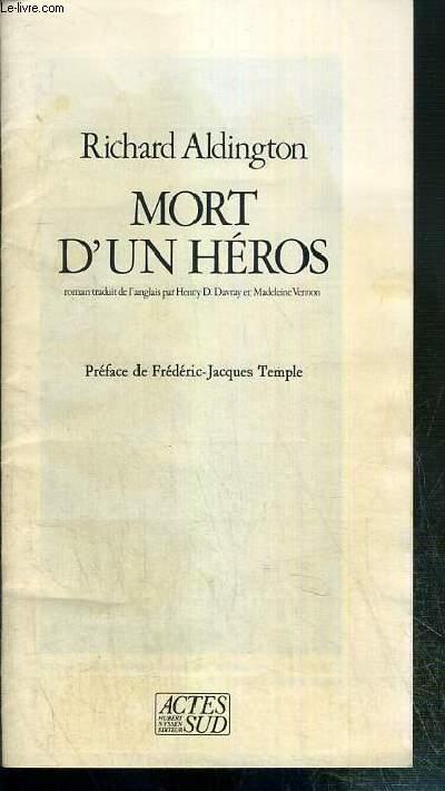 MORT D'UN HEROS