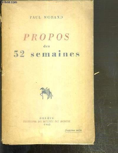 PROPOS DES 52 SEMAINES