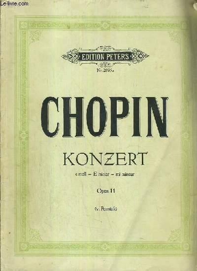 KONZET - E MOLL - E MINOR - MI MINEUR - OPUS 11 (V. POZNIAK) / EDITION PETERS Nr. 2895 a