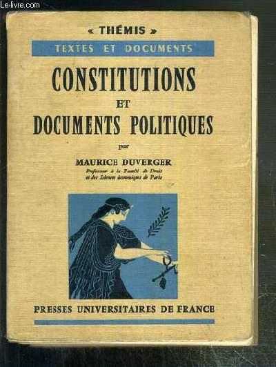 CONSTITUTIONS ET DOCUMENTS POLITIQUES /