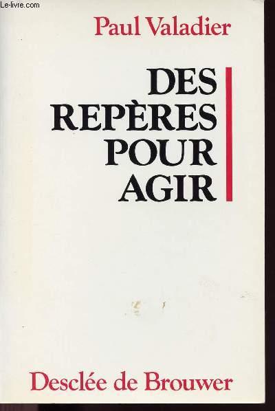 DES REPERES POUR AGIR