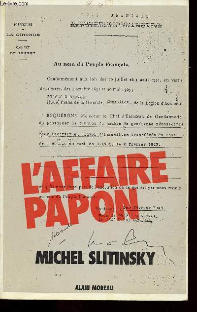 L'AFFAIRE PAPON