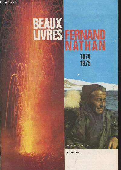 Beaux Livres Fernand Nathan 1974-1975