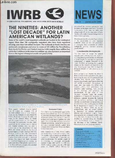 IWRB News n°5 January 1991 : The Nineties, another