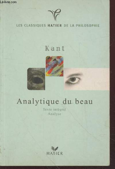 Analytique du beau (Collection :
