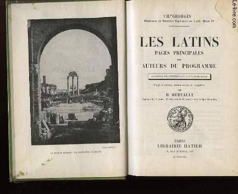 LES LATINS - CLASSES DE LETTRES