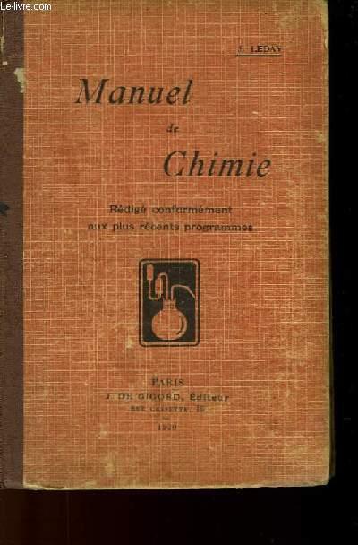 MANUEL DE CHIMIE