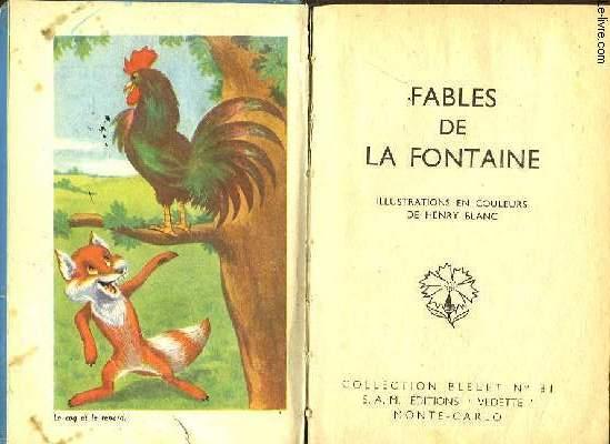 FABLES DE LA FONTAINES