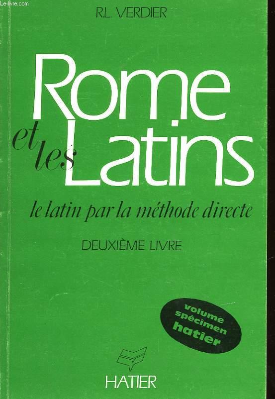 ROME ET LES LATINS - DEUXIEME LIVRE