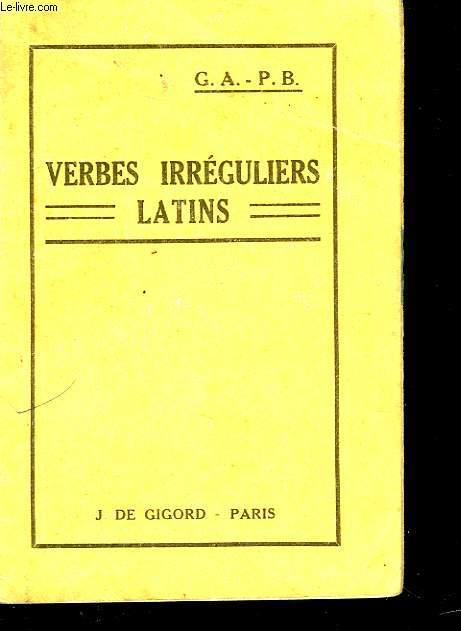 VERBES IRREGULIERS LATINS