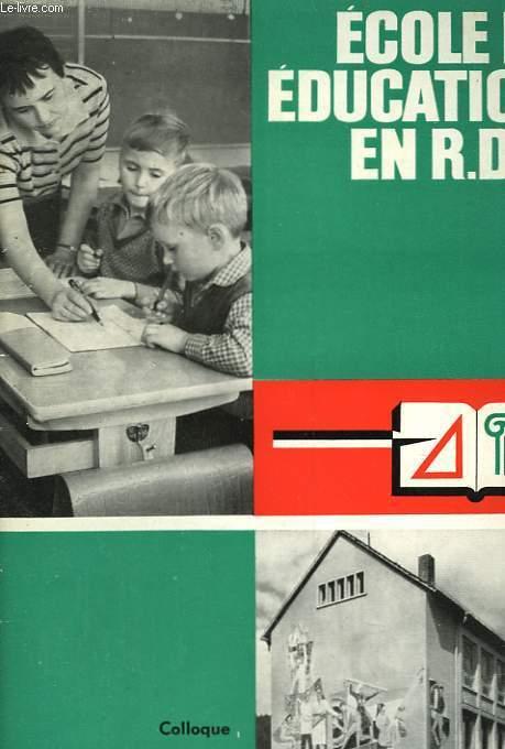 ECOLE ET EDUCATION EN R.D.A.