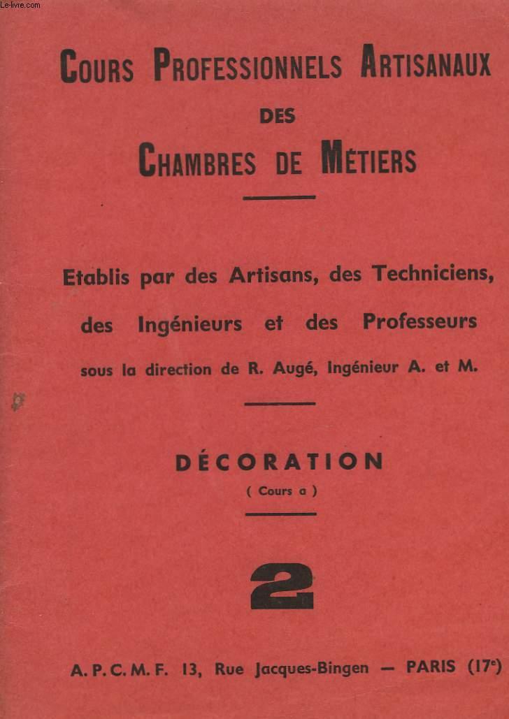 COURS PROFESSIONNELS ARTISANAUX DES CHAMBRES DE METIERS - 2