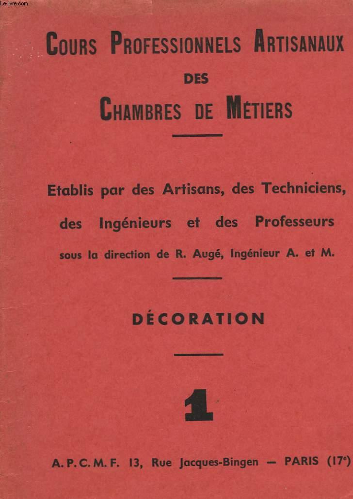 COURS PROFESSIONNELS ARTISANAUX DES CHAMBRES DE METIERS 1
