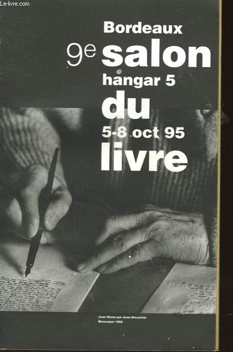 9° SALON DU LIVRE - BORDEAUX - HANGAR 5 - 5-8 OCTOBRE 95