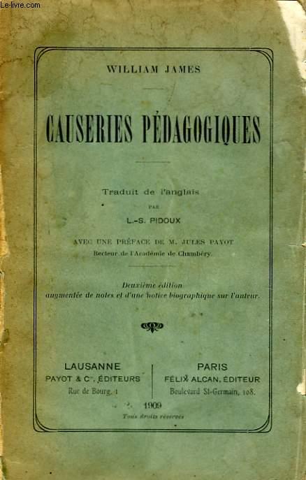 CAUSERIES PEDAGOGIQUES