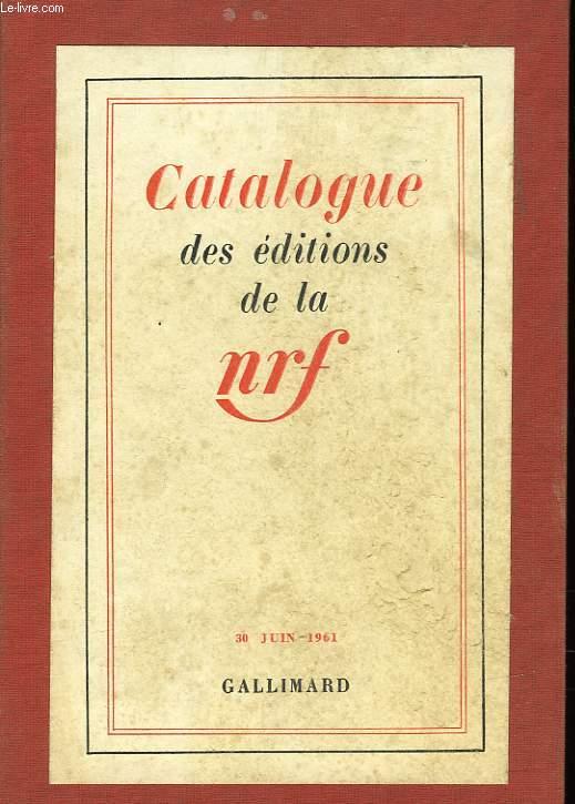 CATALOGUE DE LA NRF
