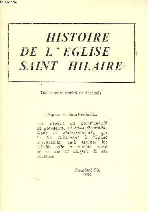 HISTOIRE DE L'EGLISE SAINT HILAIRE