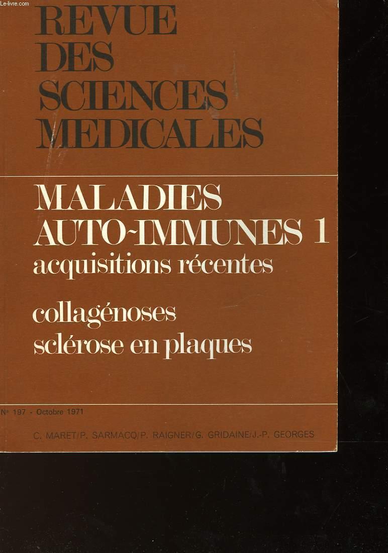 REVUE DES SCIENCES MEDICALES  N°197