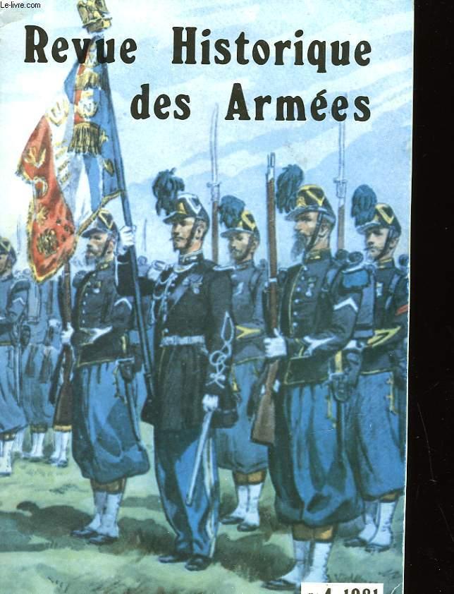 REVUE HISTORIQUE DES ARMEES - NUMERO 4-1981