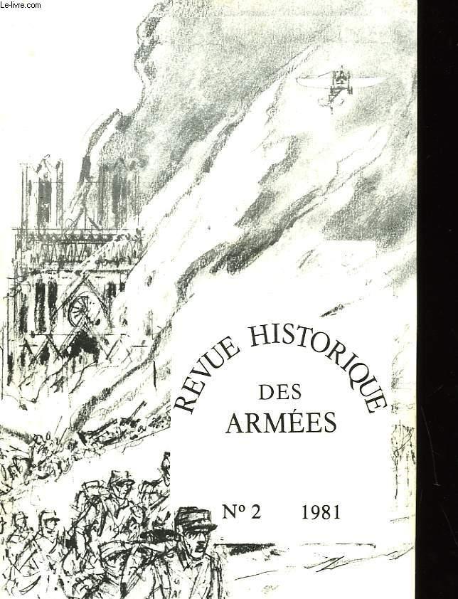 REVUE HISTORIQUE DES ARMEES - NUMERO 2-1981