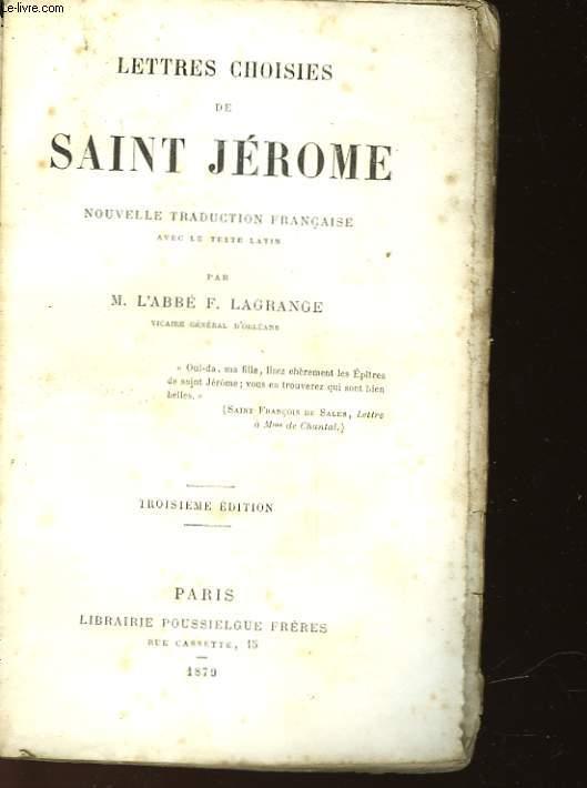 LETTRES CHOISIES DE SAINT JEROME