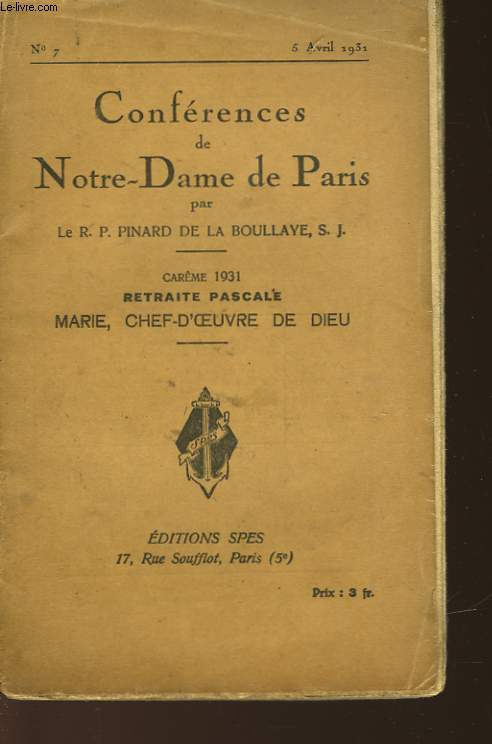 MARIE - CHEF-D'OEUVRE DE DIEU