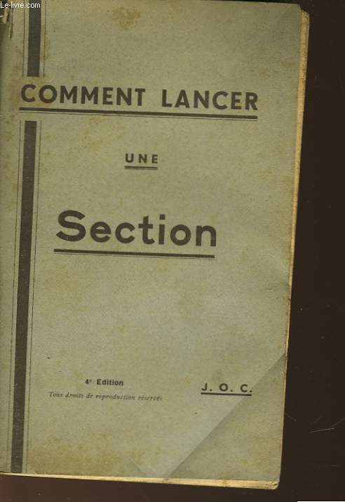 COMMENT LANCER UNE SECTION