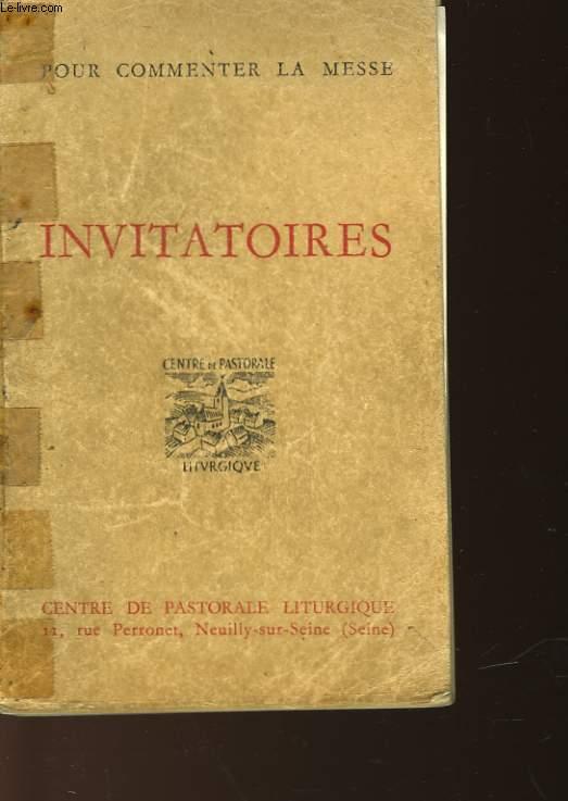 INVITATOIRES