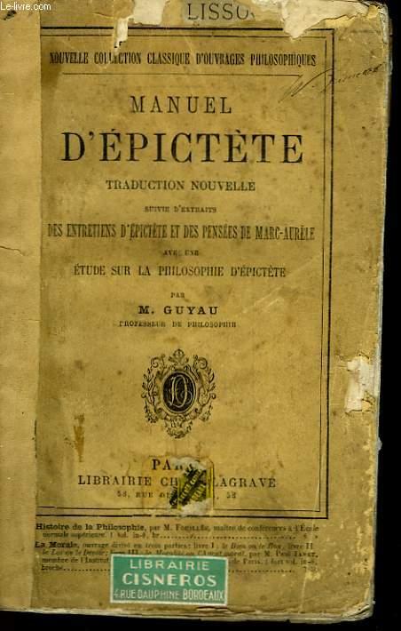 MANUEL D'EPICTETE