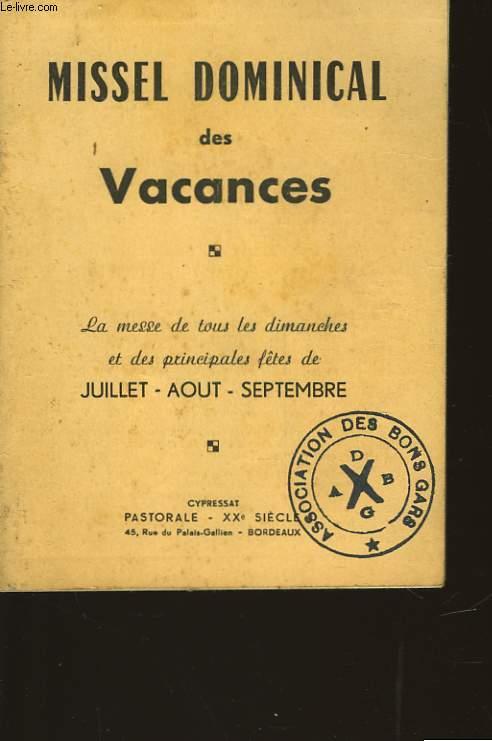 MISSEL DOMINICAL DES VACANCES