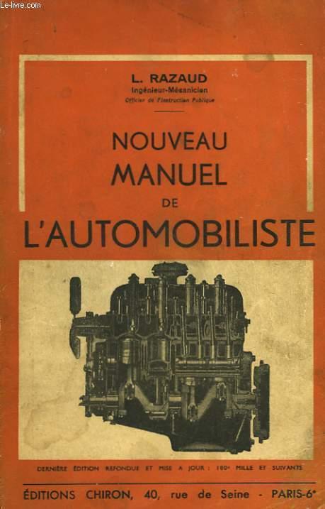 NOUVEAU MANUEL DE L'AUTOMOBILISTE
