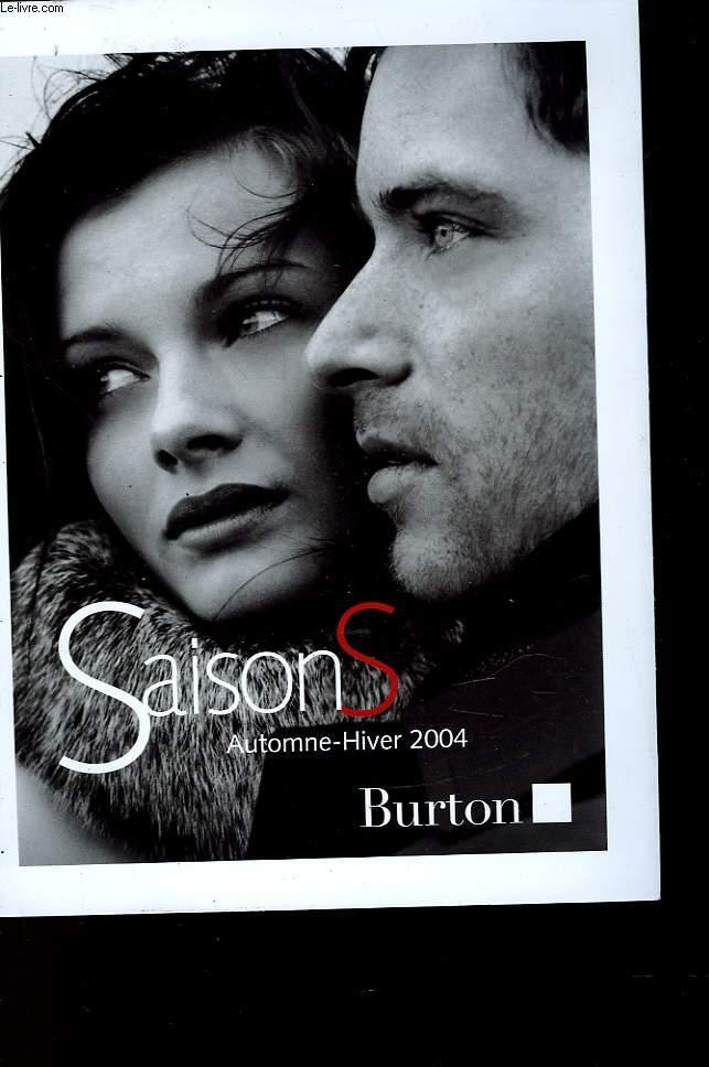SAISONS AUTOMNE-HIVER 2004 BURTON
