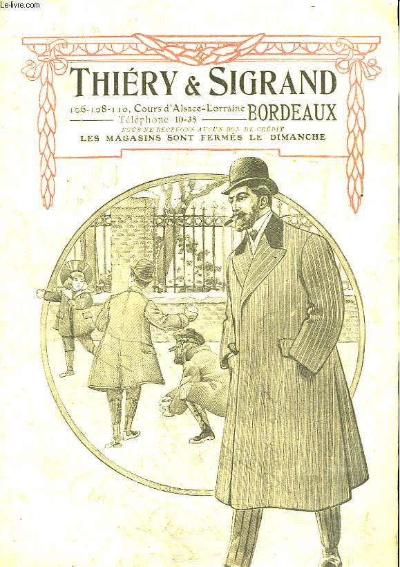 THERY & SIGRAND - VETEMENTS - AUTOMNE-HIVER 1908-1909