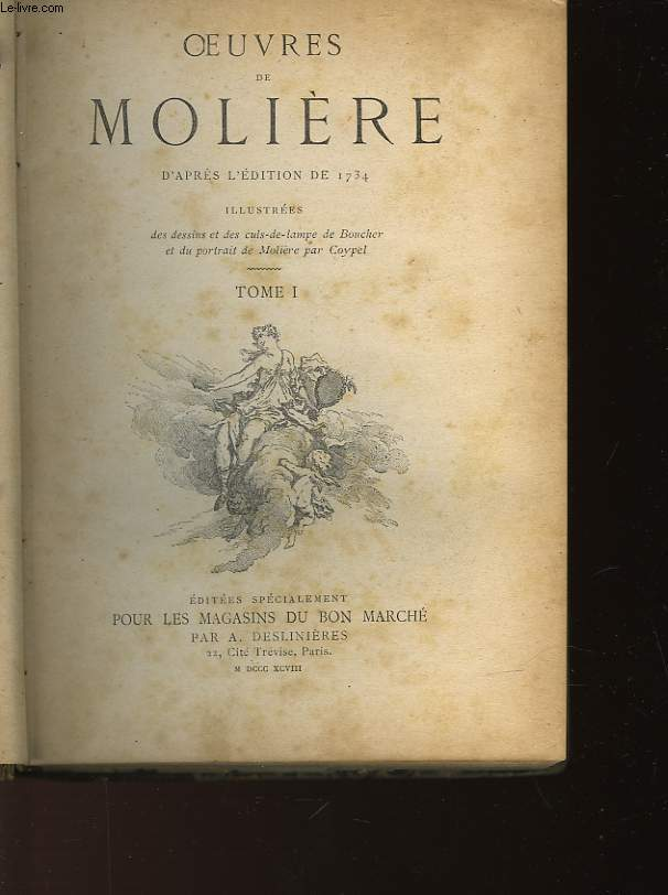 OEUVRES DE MOLIERES - TOME 1