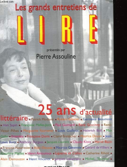 LES GRANDS ENTRETIENS DE LIRE 1975-2000