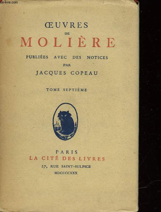 OEUVRES DE MOLIERE - 8 TOMES