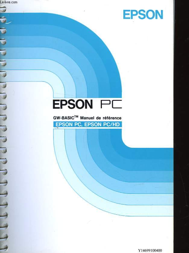 EPSON PC EPSON PC/HD - GM-BASIC MANUEL DE REFERENCE
