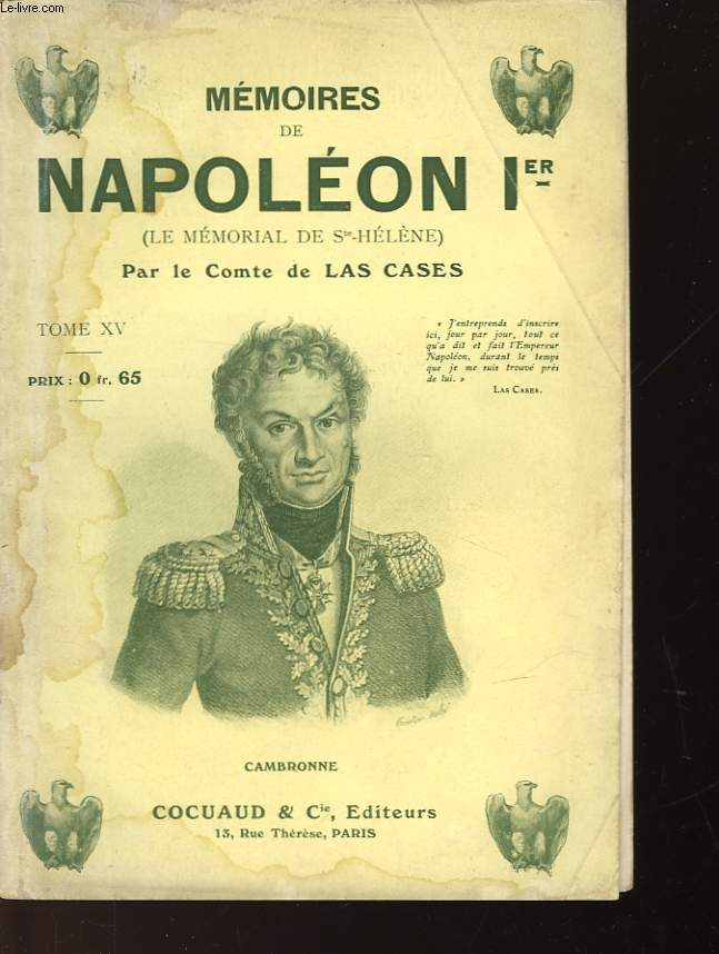 MEMOIRES DE NAPOLEON Ier - TOME XV