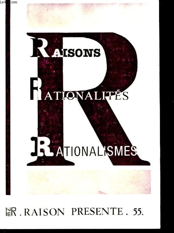 RAIRONS RATIONALITES RATIONALISMES