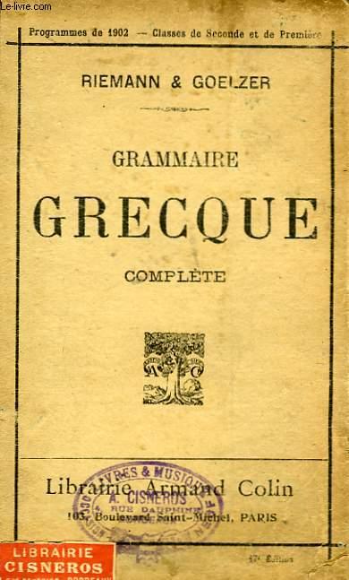 Grammaire grecque complète