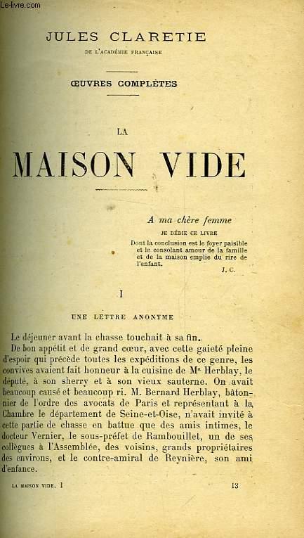 LA MAISON VIDE- PIERRILLE
