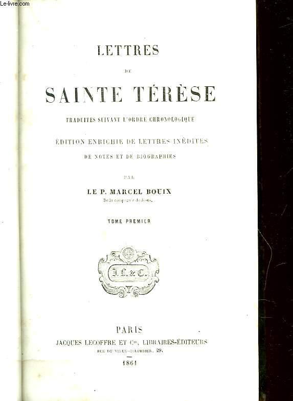 LETTRES DE SAINTE TERESE - TOME PREMIER